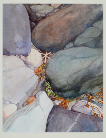 """Hidden V"", Watercolor"