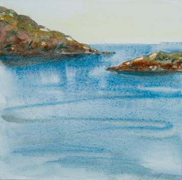 """""""Monhegan XXIV: Morning Has Broken"""", Watercolor"""
